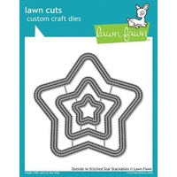 Lawn Fawn Cuts Outside In Stitched Star Stackables LF1629