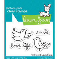 Lawn Fawn Stamps Fly Free LF343