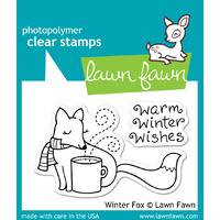Lawn Fawn Stamps Winter Fox LF363