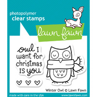 Lawn Fawn Stamps Winter Owl LF434