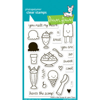 Lawn Fawn Stamps Here's the Scoop LF440