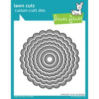 Lawn Fawn Cuts Scalloped Circle Stackables Dies LF523