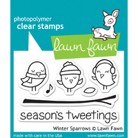 Lawn Fawn Stamps Winter Sparrows LF565