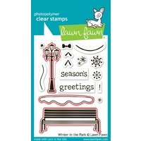 Lawn Fawn Winter In The Park Stamp+Die Bundle