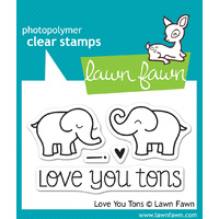 Lawn Fawn Stamps Love You Tons LF598