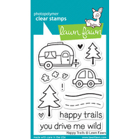 Lawn Fawn Stamps - Happy Trails LF601 FREE SHIPPING
