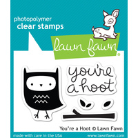 Lawn Fawn Stamps - You're a Hoot LF605 FREE SHIPPING
