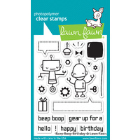 Lawn Fawn Stamps Beep Boop Birthday LF676