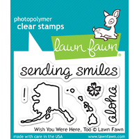 Lawn Fawn Stamps - Wish You Were Here Too LF678 FREE SHIPPING