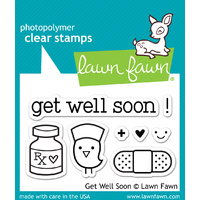 Lawn Fawn Stamps - Get Well Soon LF682 FREE SHIPPING