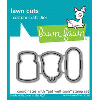 Lawn Fawn Cuts Get Well Soon Dies LF683