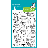 Lawn Fawn Stamps - Love You A Latte LF704 FREE SHIPPING