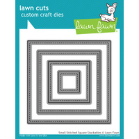 Lawn Fawn Cuts Small Stitched Square Stackables Dies LF836