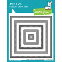 Lawn Fawn Cuts Large Stitched Square Stackables Dies LF837