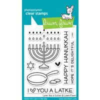 Lawn Fawn Stamps Love You a Latke LF941