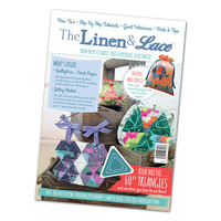 Tattered Lace Linen & Lace Magazine with 60° Triangles Dies