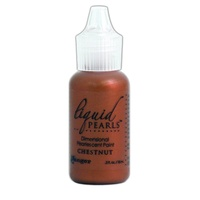 Liquid Pearls Dimensional Pearlescent Paint .5oz Chestnut