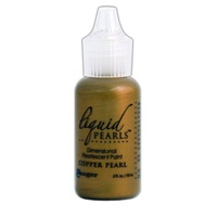 Liquid Pearls Dimensional Pearlescent Paint .5oz Copper Pearl