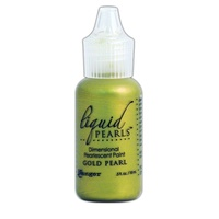 Liquid Pearls Dimensional Pearlescent Paint .5oz Gold Pearl