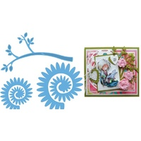 Marianne Design Creatables Die Branch and Flowers 2 Die Set LR0257