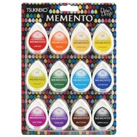 Memento Ink Pads Dew Drops Gum Drops 12pc Set