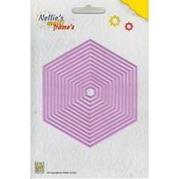 Nellie's Multi Frames Dies Straight Hexagon MFD059