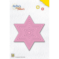 Nellie's Multi Frames Dies Straight Star MFD061