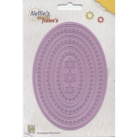 Nellie's Multi Frames Dies Scalloped Oval MFD80