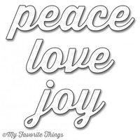 My Favourite Things Dienamics MFT541 Peace Love Joy Dies