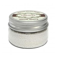 Creative Expressions Opaque Micro Beads - Snow White 30g