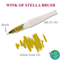 Zig Wink Of Stella Brush Glitter Marker Gold