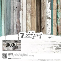 Elizabeth Craft Designs Modascrap 12 x 12 Inch Paper Pad Wood Effect