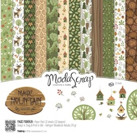 Elizabeth Craft Designs Modascrap 6x6 Inch Paper Pad Magic Mountain