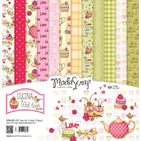 Elizabeth Craft Designs Modascrap 6x6 Inch Paper Pad Cucina With Love
