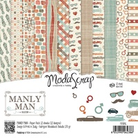 Elizabeth Craft Designs Modascrap 6x6 Inch Paper Pad Manly Man