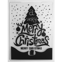Embossing Folder A Very Merry Christmas 10.5cm x 14.5cm