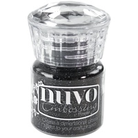Nuvo Embossing Powder Glitter Noir