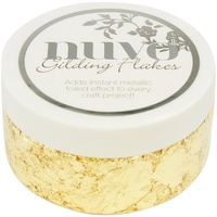 Nuvo Gilding Flakes 6.8oz Radient Gold