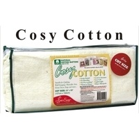 Cosy Cotton Low Loft Batting COT SIZE 125cm x 127cm (60' x 50')