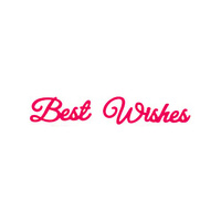 Presscut Die Best Wishes (2pcs) PCD113