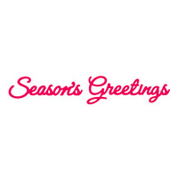 Presscut Die Season's Greetings (2pcs) PCD121