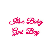 Presscut Die It's a Baby Girl Boy (4pcs) PCD125