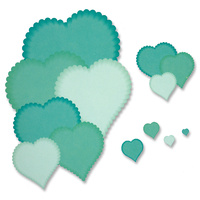 Presscut Smaller Scalloped Heart Nesting Dies PCD81 FREE SHIPPING