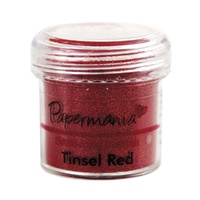 Papermania Embossing Powder Tinsel Red 28g