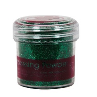 Papermania Embossing Powder Tinsel Green 28g