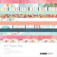 Kaisercraft Paper Pad Party Time 6.5X6.5 40/Pkg
