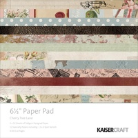 Kaisercraft Paper Pad Cherry Tree Lane 6.5X6.5 40/Pkg