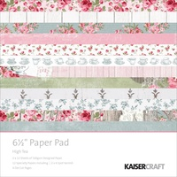 Kaisercraft Paper Pad High Tea 6.5x6.5 40/Pkg