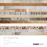 Kaisercraft Paper Pad Documented 6.5X6.5 40/Pkg