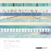 Kaisercraft Paper Pad Coastal Escape 6.5X6.5 40/Pkg